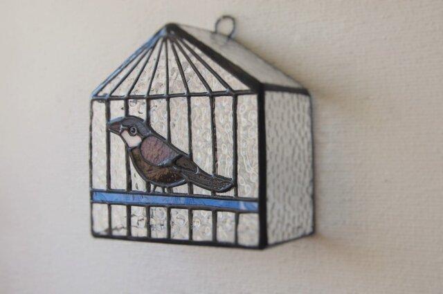 ブンチョウ 鳥かご壁掛けランプ の画像1枚目