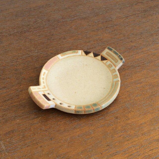 幾何学文様豆皿(丸)(No.262)の画像1枚目