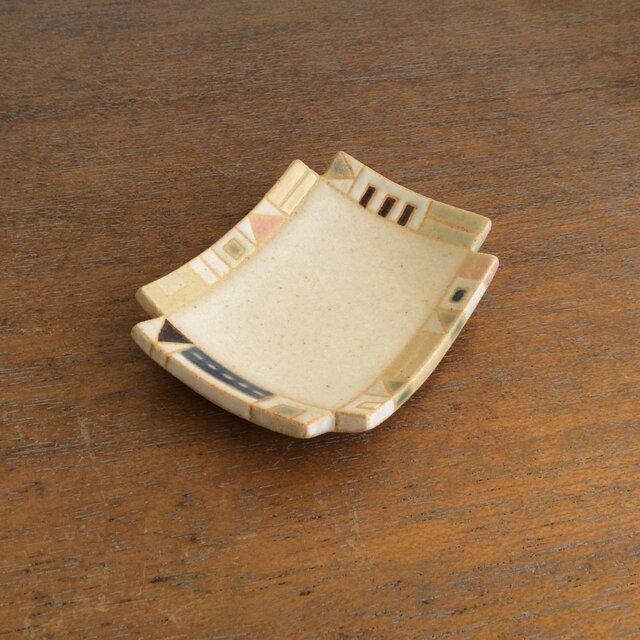 幾何学文様豆皿(角)(No.264)の画像1枚目
