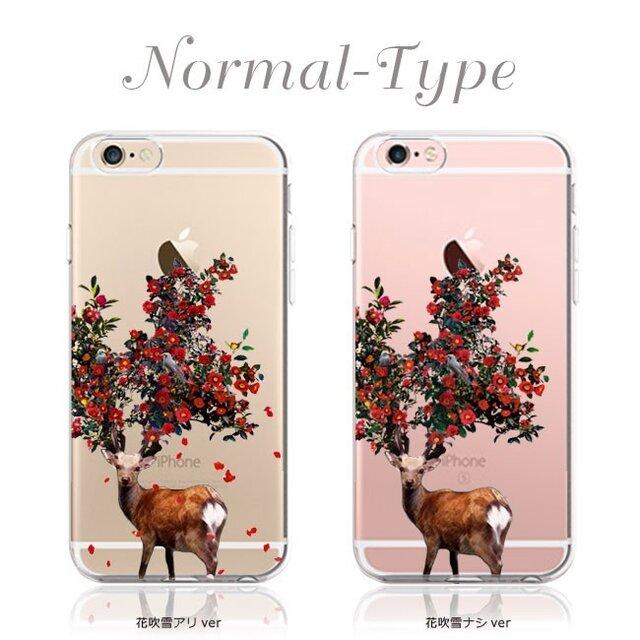 鹿椿プリントケース iPhone11 iPhoneケース各種 アンドロイドの画像1枚目