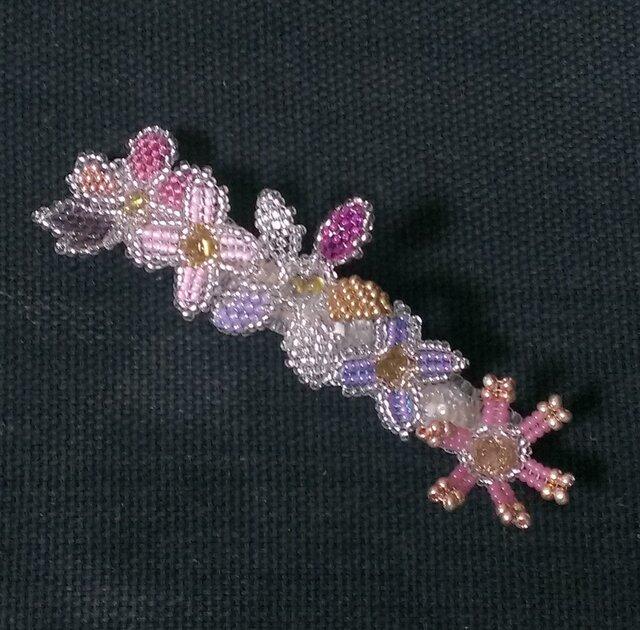 バレッタ couture(ピンク・パープル)の画像1枚目