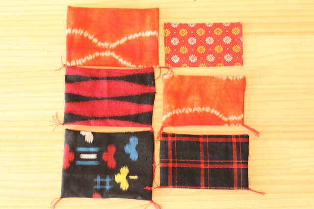 着物生地の手縫い飾り布。の画像1枚目