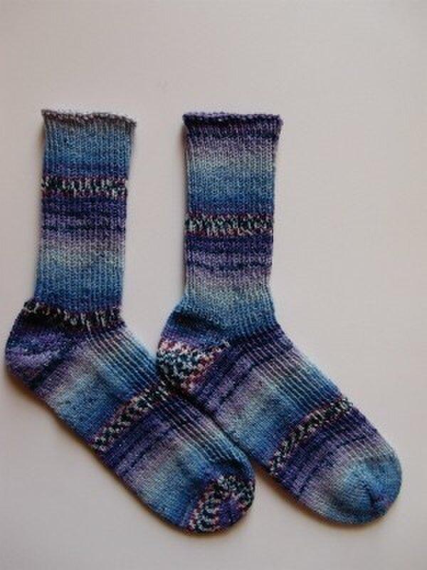 手編み靴下【ハッピー... スウィート&スパイシー I  9092】の画像1枚目