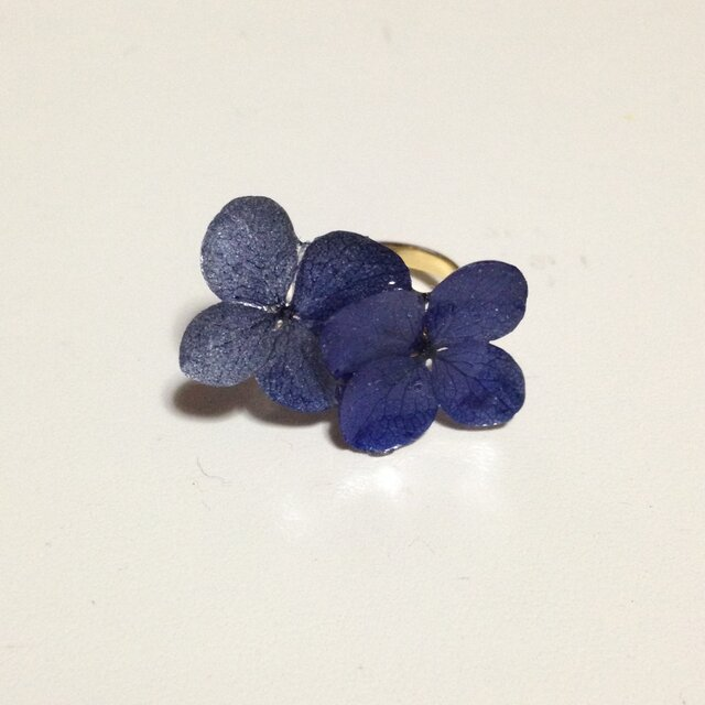 ラピスラズリ*紫陽花のピンキーリングの画像1枚目