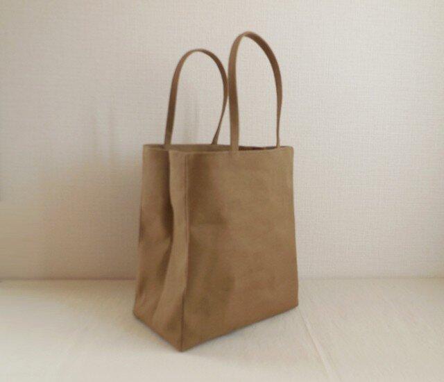 帆布 紙袋バッグ オリーブベージュの画像1枚目