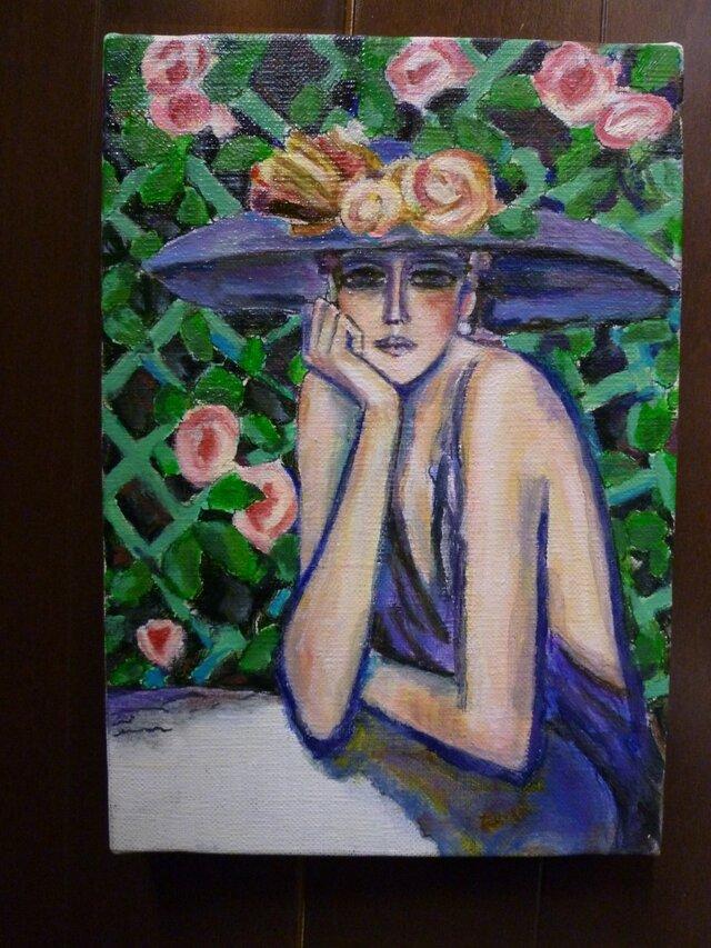 カシニョール「バラ」模写の画像1枚目
