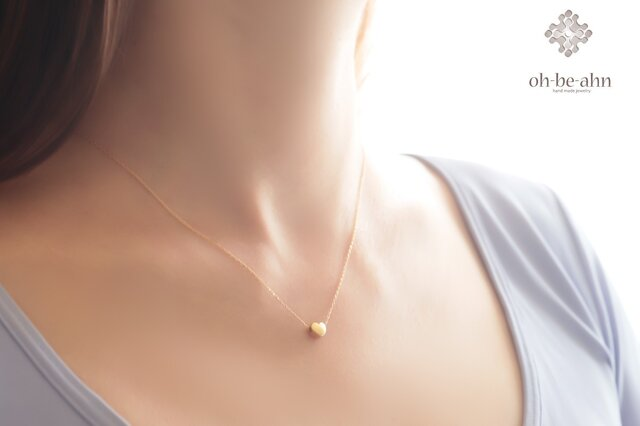 14kgf 小さな♥ハートのネックレスの画像1枚目