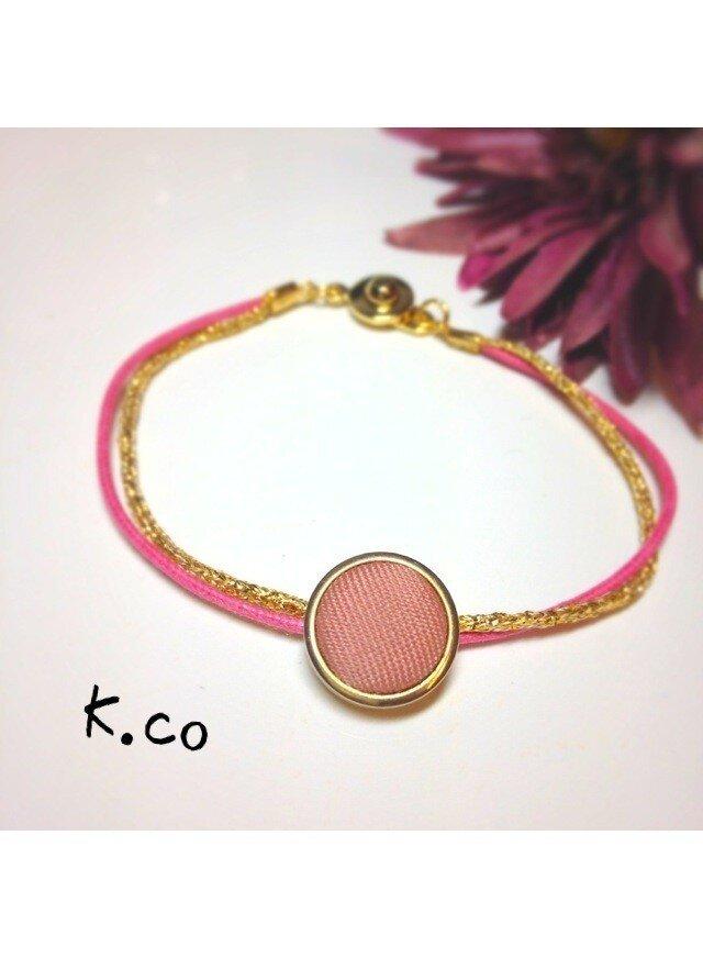 【bracelet】 Pink × Goldの画像1枚目
