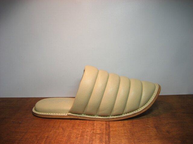 Sofa Slippers MOKO IVORY sizeLの画像1枚目