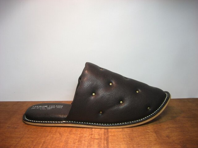 Sofa Slippers STUDS BLACK sizeSの画像1枚目