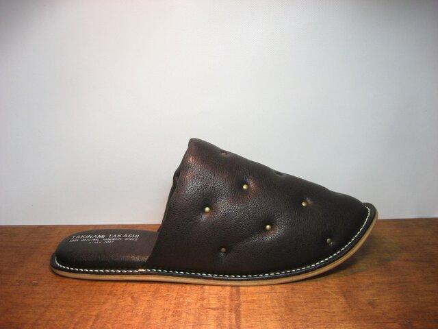 Sofa Slippers STUDS BLACK sizeLLの画像1枚目