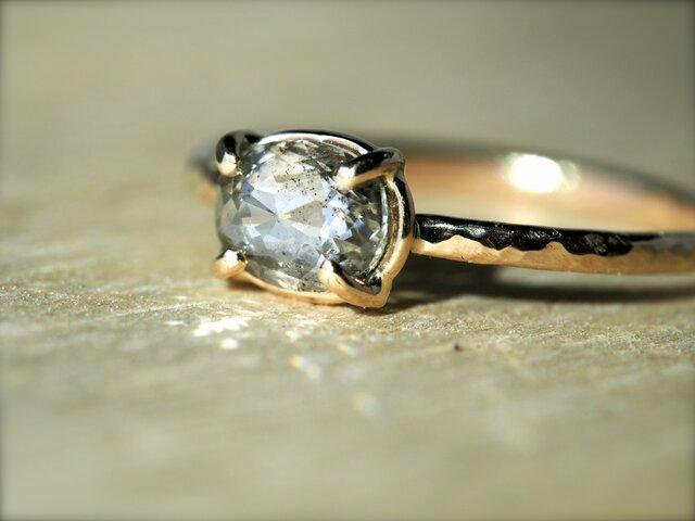 A Dew Drop Diamond Prong Ringの画像1枚目