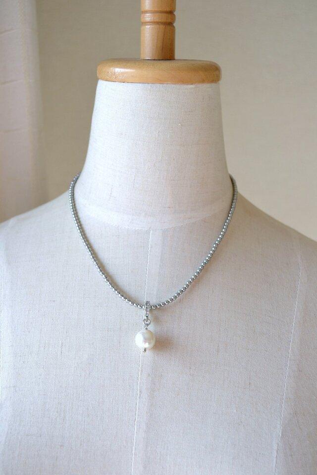 再販♪一粒パールのネックレスの画像1枚目