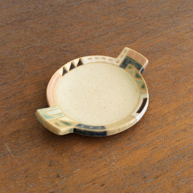 幾何学文様豆皿(丸)(No.266)の画像1枚目