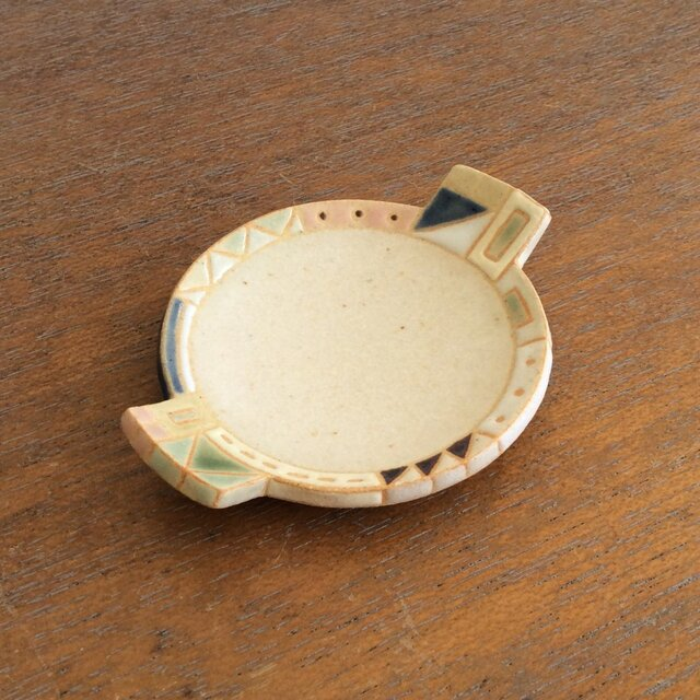 幾何学文様豆皿(丸)(No.267)の画像1枚目