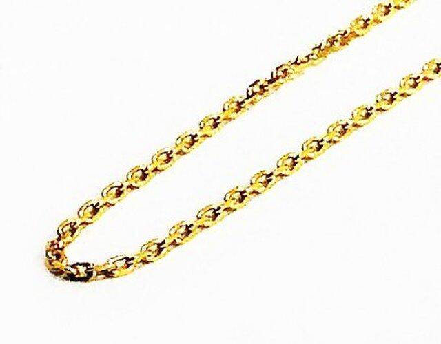 別売K18YGチェーンNo.2:キラキラ小豆【Pio by Parakee】gold oval cut chainの画像1枚目
