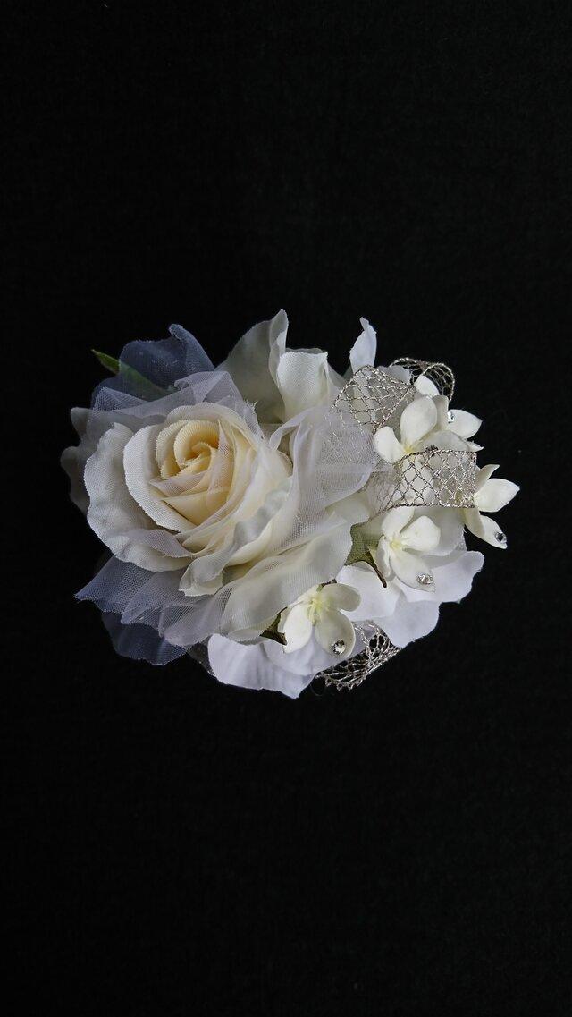 rose corsage (オフホワイト)の画像1枚目
