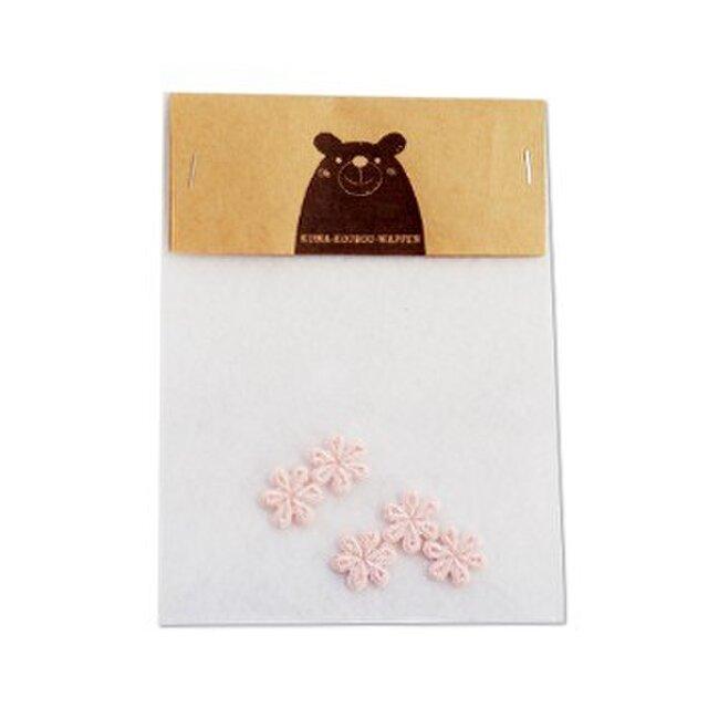 ちいさなお花のワッペン(ピンク)の画像1枚目