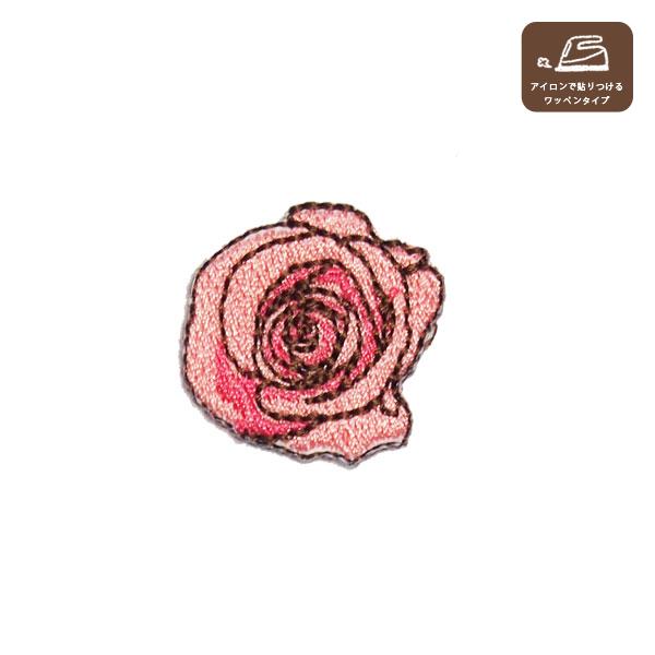 バラのワッペンM(ピンク)の画像1枚目