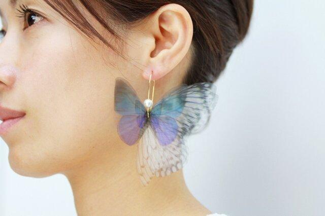 クリスマス Lapis Lazuli Fairy Dream ピアス(イヤリングへ変更可)の画像1枚目