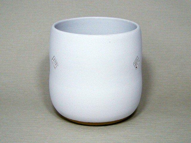 白マット だるま植木鉢の画像1枚目