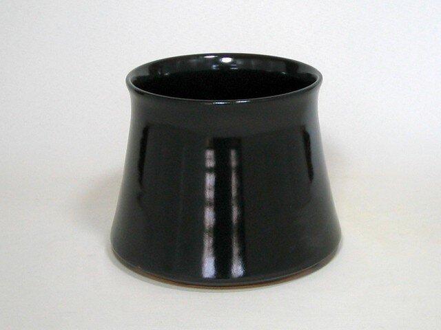 黒釉 フジツボ形植木鉢の画像1枚目