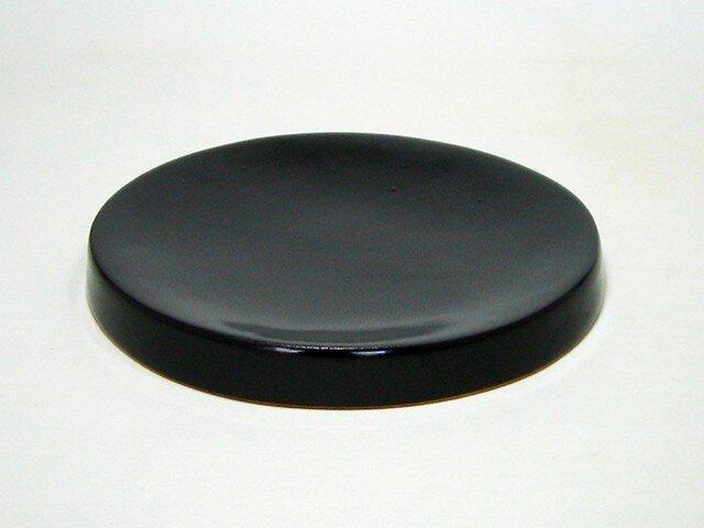 黒釉 たいこ受皿の画像1枚目