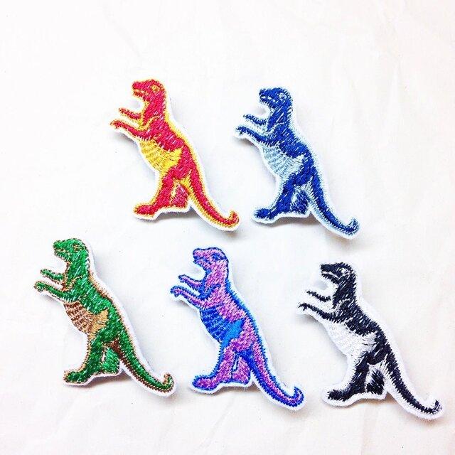 刺繍ブローチ 「ティラノサウルス」の画像1枚目