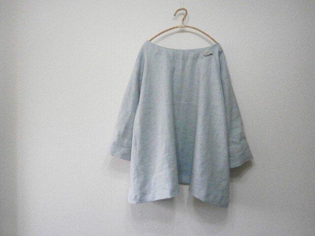 en-en 麻・タッグ袖プルオーバー(109)リネン,麻,ナチュラル,ハンドメイドの画像1枚目