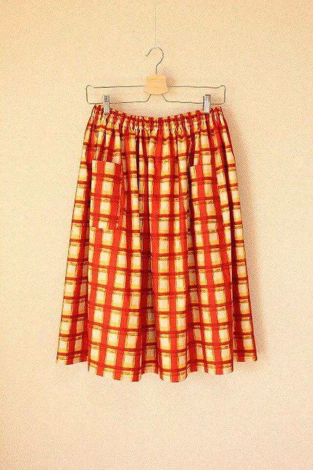 *夕日が染める赤レンガ倉庫~ギャザースカート*の画像1枚目