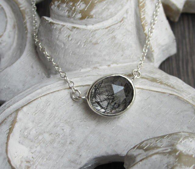 トルマライズドクォーツ・ネックレス(silver)の画像1枚目