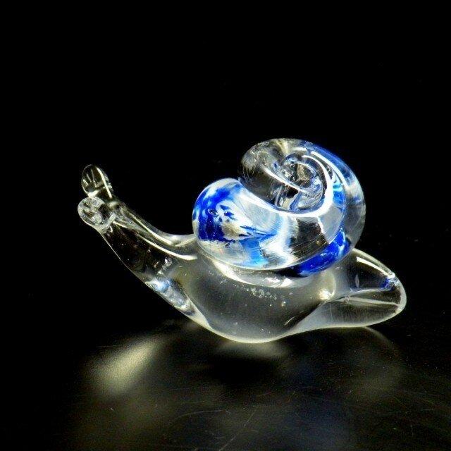ガラスのかたつむり『ブルー』の画像1枚目