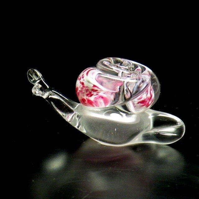 ガラスのかたつむり『ピンク』の画像1枚目