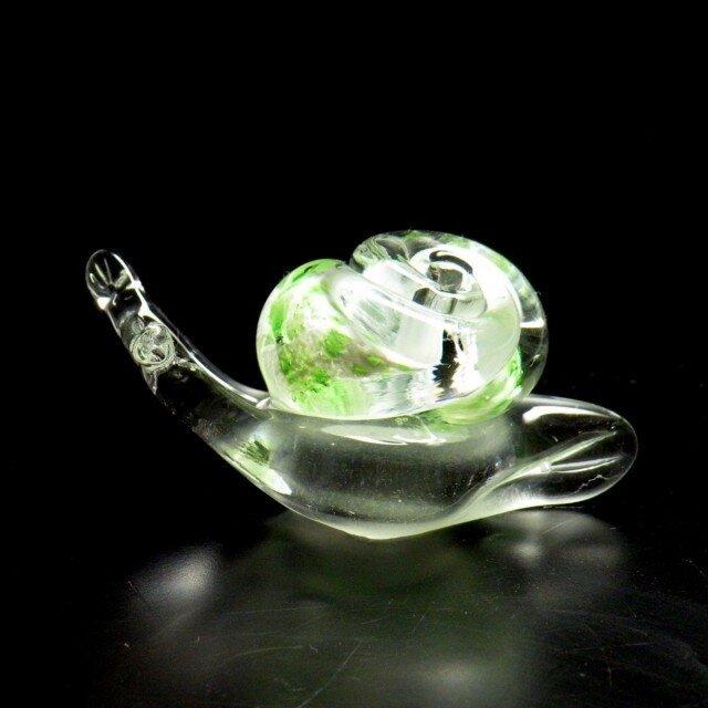 ガラスのかたつむり『グリーン』の画像1枚目
