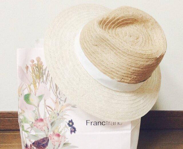 2color linen hatの画像1枚目