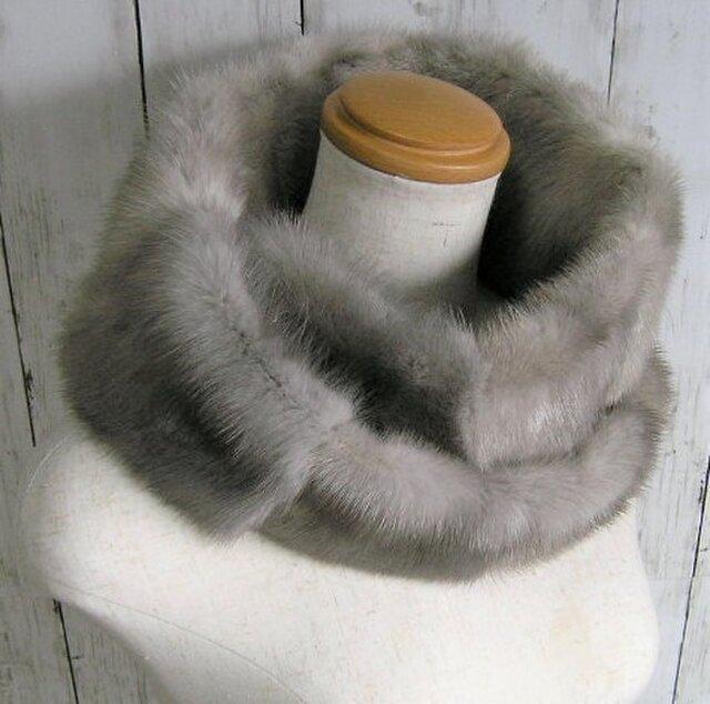 ¶ new antique fur ¶ サファイアミンクファーnejiriスヌード「sophia」の画像1枚目
