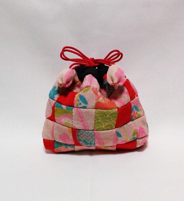 古布のパッチワーク巾着袋の画像1枚目