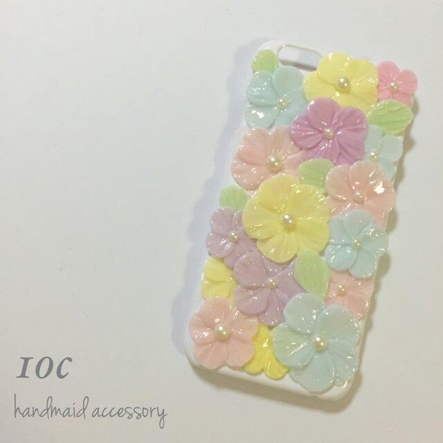 春色お花畑スマホケース カラフルの画像1枚目