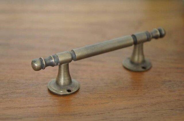 アンティーク調 ドアハンドル ストレートタイプ 真鍮製 小 95mmの画像1枚目