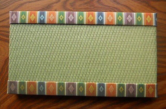 桐生雛生地ミニ畳~山紫 ~新緑色の画像1枚目
