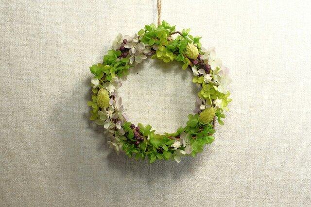 春の原っぱ♡グリーンナチュラルリース♪の画像1枚目