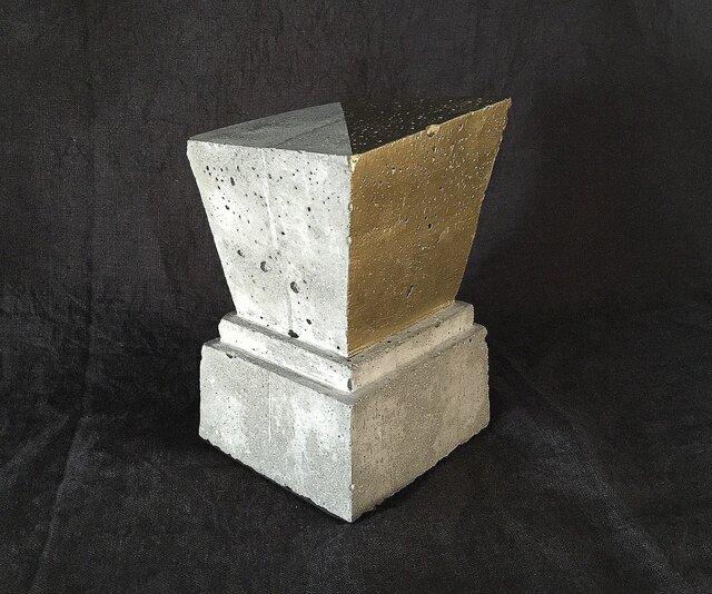 ブックエンド(trapezoid)コンクリートの画像1枚目