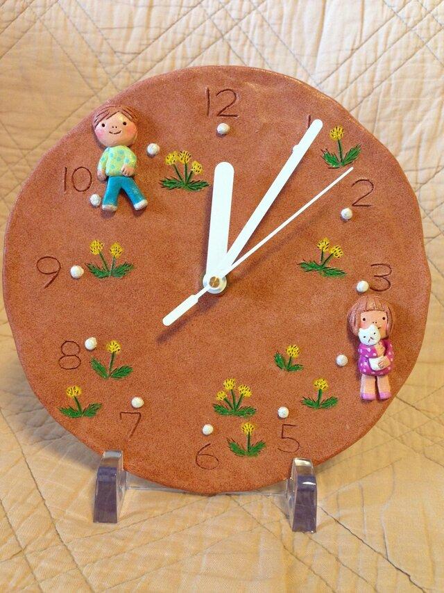 壁掛時計【タンポポとこどもたち】の画像1枚目