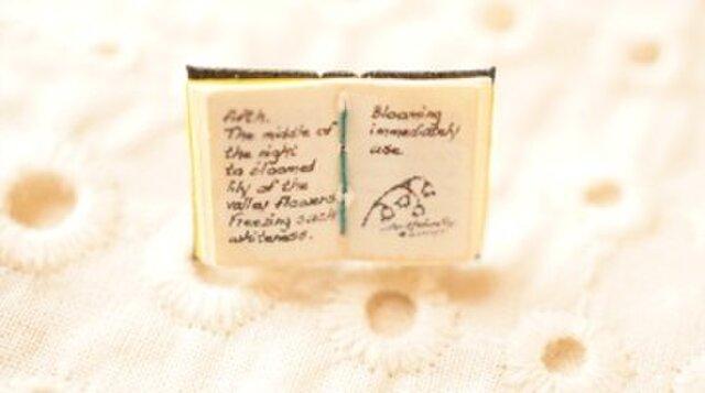 豆本ブローチ 「魔女の惚れ薬」蝶タック バッジの画像1枚目