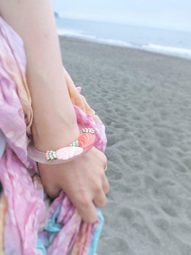 ヴィンテージ バングル ブレスレット vintage bangle bracelet <LC-CLPK>の画像1枚目