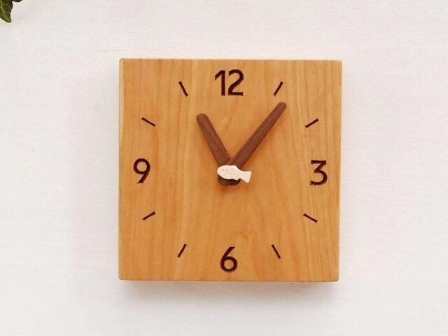 15cm×15cm 掛け・置き時計 チェリー【1611】の画像1枚目