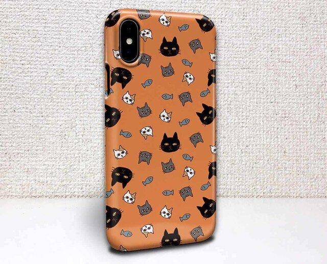 iphone ハードケース iPhoneX iphone8 iphone8 plus iphone7 猫 オレンジ色ニャンズの画像1枚目