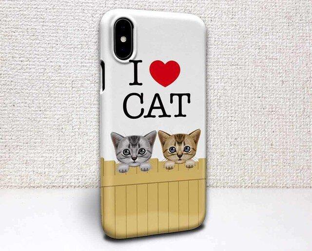 iphone ハードケース iPhoneX iphone8 iphone8 plus iphone7 猫 壁の上の猫(ネコ)の画像1枚目