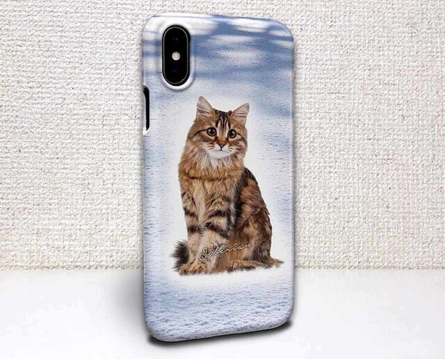 iphone ハードケース iPhoneX iphone8 iphone8 plus iphone7 猫 サイベリアンの画像1枚目
