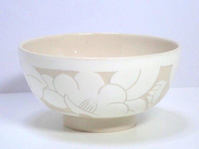 椿の飯碗(白)の画像1枚目